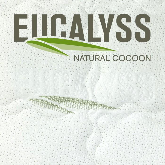 Luxusní BIO matrace Viscogreen Lux s přírodní paměťovou pěnou - detail potahu Eucalyss