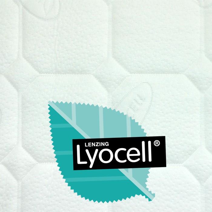 BIO matrace Biogreen T4 z přírodní ricinové pěny - detail potahu Lyocell