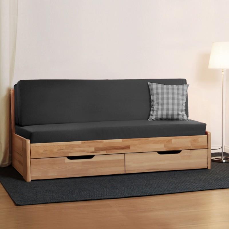 AKCE rozkládací postel CORA TANDEM KLASIK masiv buk s matracemi ERGOFLEX 18