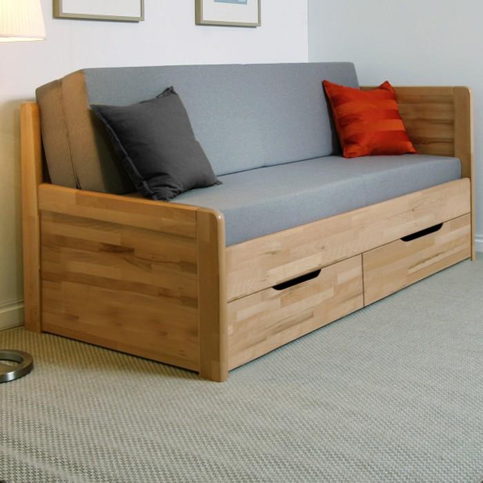 AKCE rozkládací postel MARCY TANDEM KLASIK masiv buk s matracemi ANTIBACTERIAL VISCO VAKUO 18 - rohová