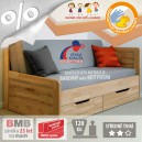 AKCE rozkládací postel MARCY TANDEM KLASIK masiv buk s matracemi BONNIE 18