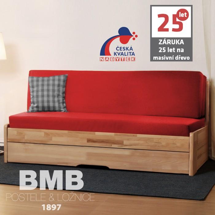 AKCE rozkládací postel CORA TANDEM ORTHO masiv buk s matracemi SWISS MAGIC 20