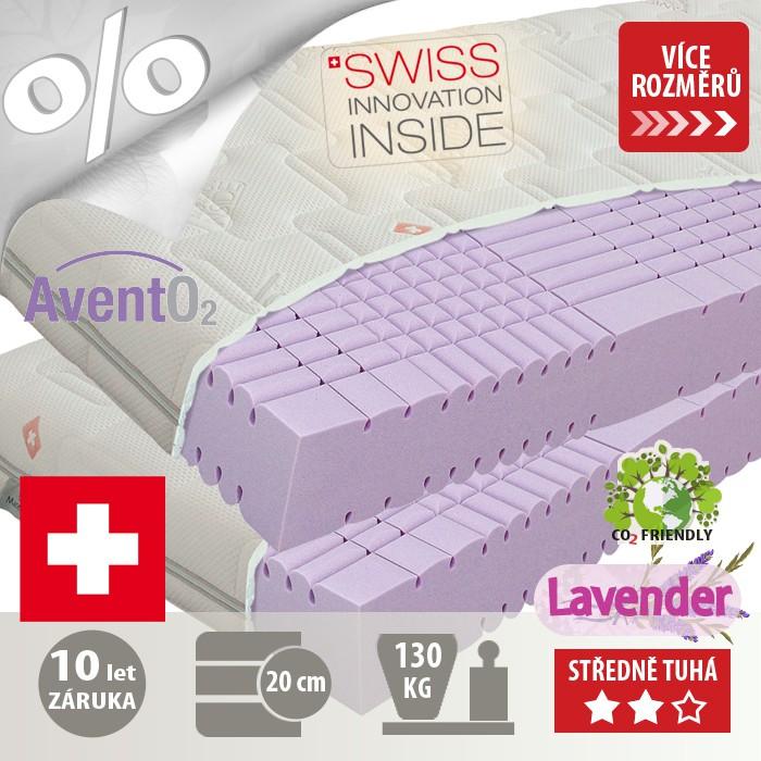 Matrace Swiss Magic s výtažky léčivých alpských bylin a s esenciálním olejem z levandule lékařské