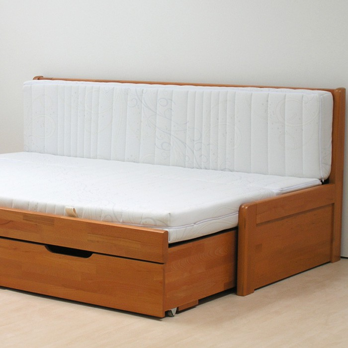 Ukázka možností použití matrací s opěrkou (foto matrací je orientační a slouží pro představu rozkládání)