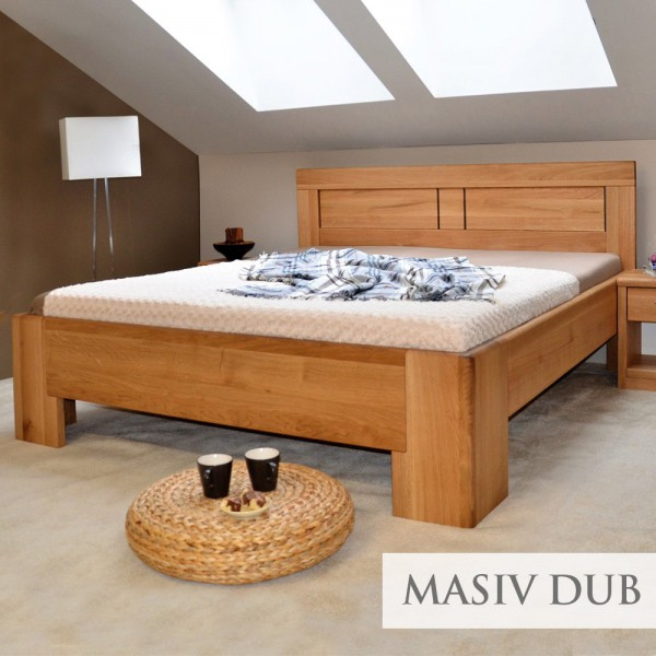 Zvýšená postel HOLLYWOOD 2, masiv dub čistý, Kolacia Design