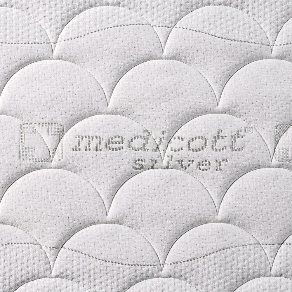 Matrace LOREDO NATURAL - potah Medicott Silver 3D s ventilační mřížkou, Benab