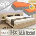Zvýšená postel SALINA VÝKLOP lamino s matracemi MONACO