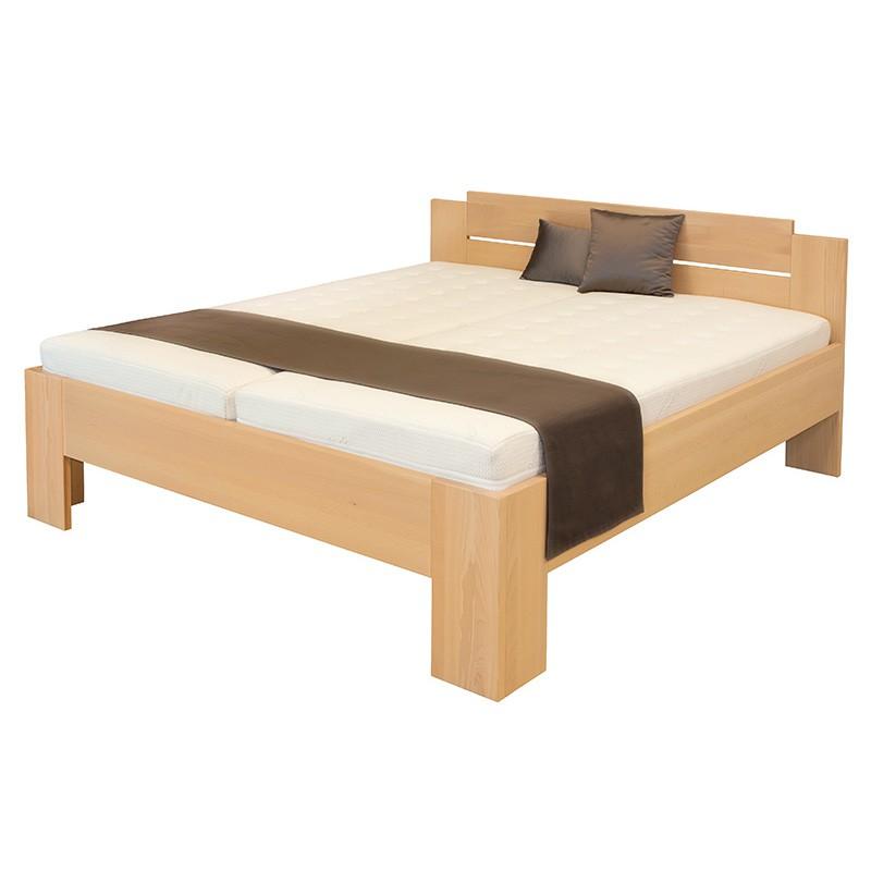 Zvýšená postel GRADO masiv BUK, Ahorn