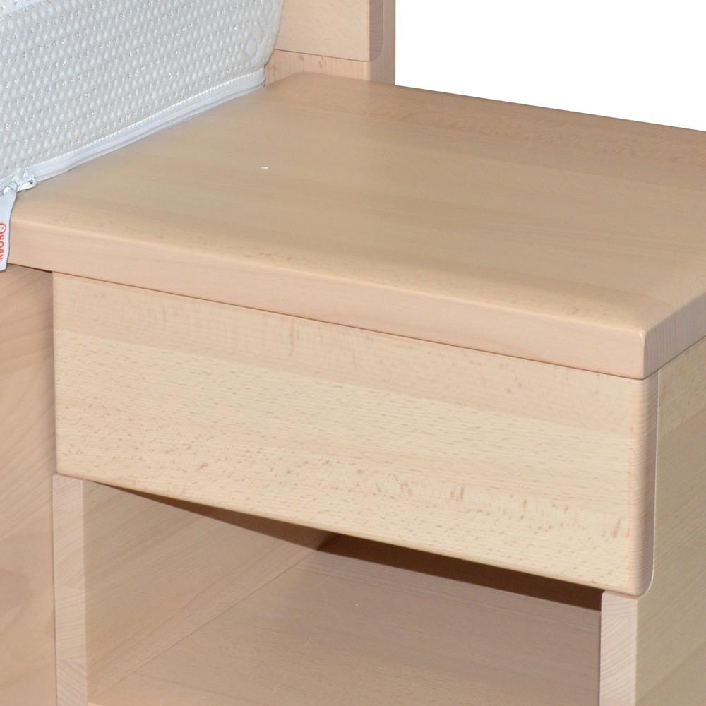 Závěsný noční stolek GALAXY zásuvka masiv BUK, Ahorn