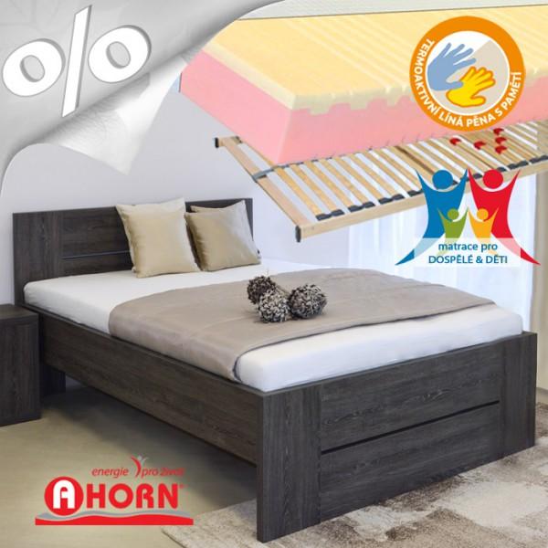 Zvýšené jednolůžko LORANO lamino s matrací FLEXONA