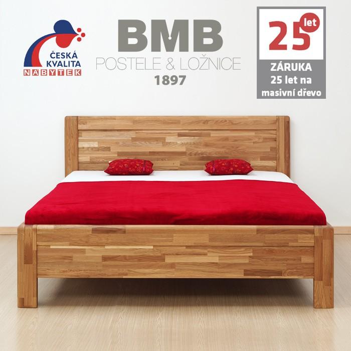 Zvýšená postel ADRIANA FAMILY masiv dub, BMB