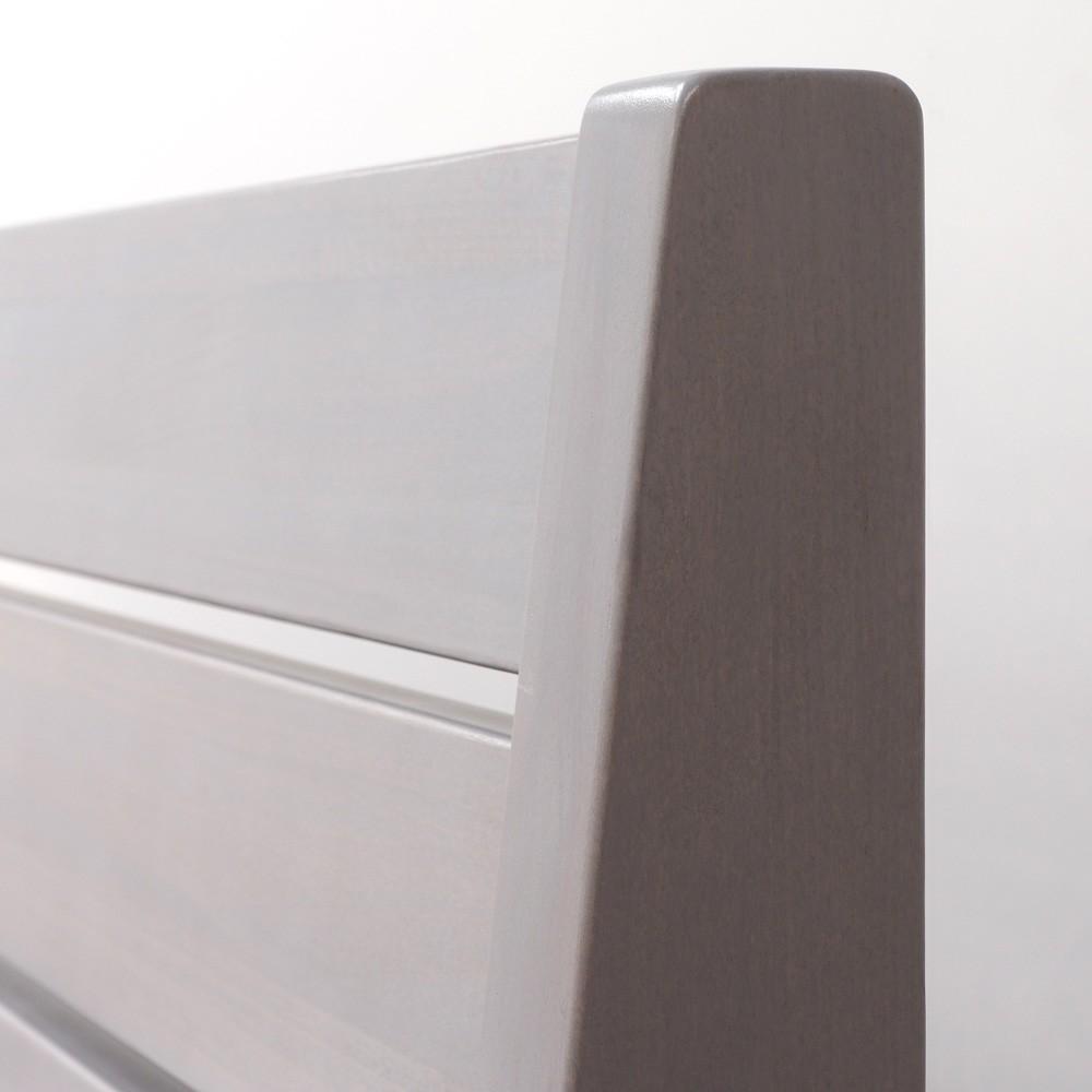 Zvýšená postel GLORIA XL masiv buk moření šedá, BMB