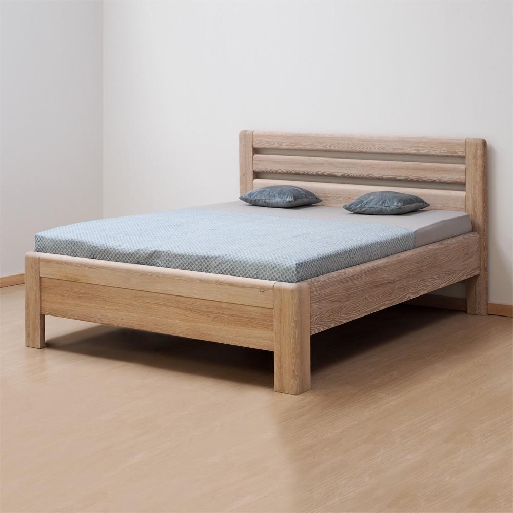 Zvýšená postel ADRIANA LUX masiv dub odstín patina, BMB