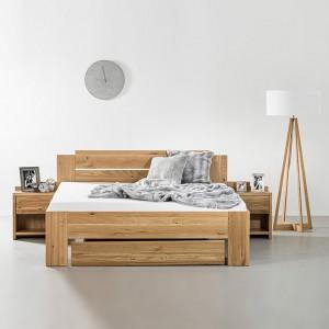 Zvýšená postel GRADO masiv DUB, Ahorn