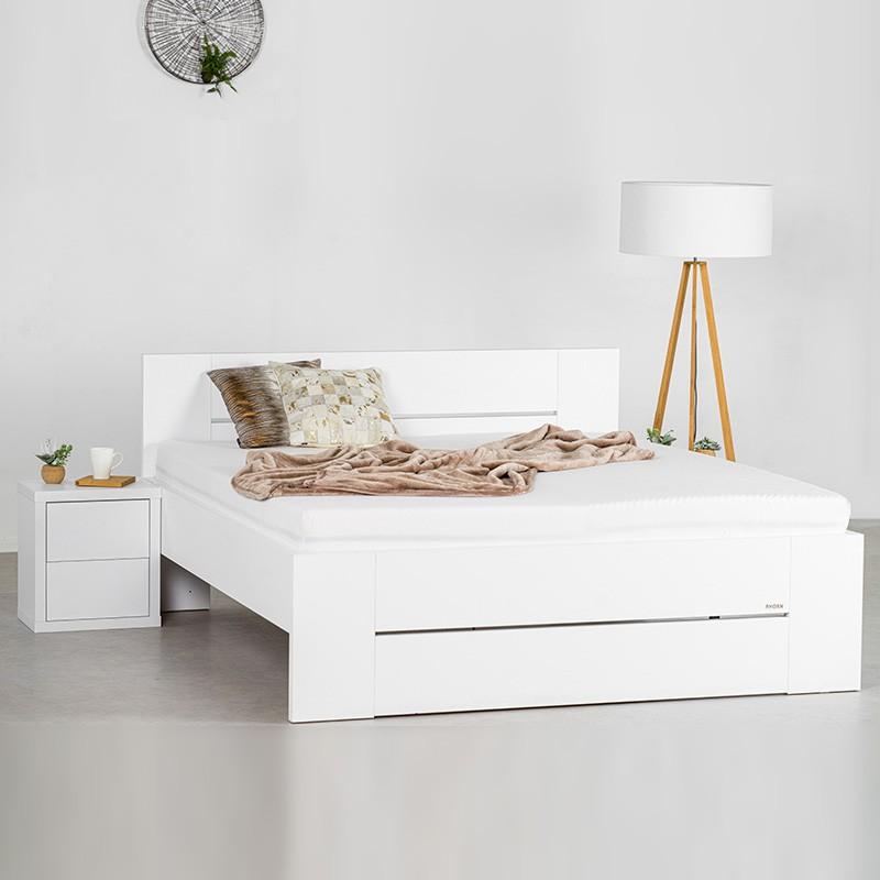 Zvýšená postel LORANO lamino, Ahorn