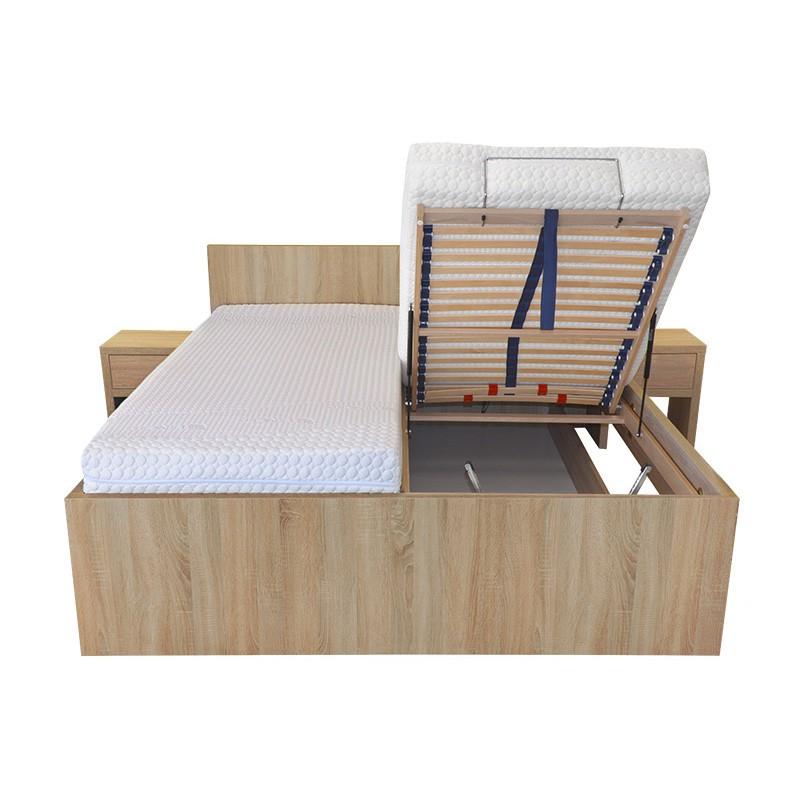 Zvýšená postel TROPEA VÝKLOP lamino, Ahorn