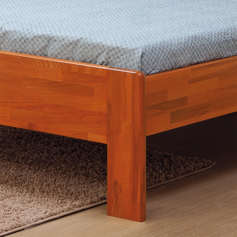 Zvýšená postel ELLA MOON masiv buk odstín jabloň, BMB