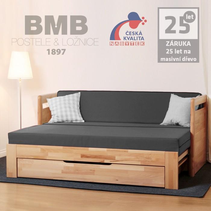Rozkládací postel TARJA TANDEM PLUS masiv, BMB