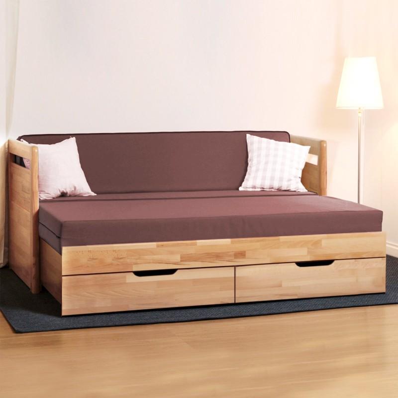 Rozkládací postel TARJA TANDEM KLASIK masiv buk cink - odstín natur lak, BMB