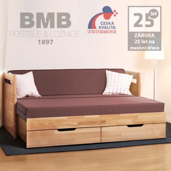 Rozkládací postel TARJA TANDEM KLASIK masiv, BMB
