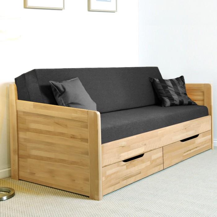 Rozkládací postel MARCY TANDEM KLASIK masiv buk cink jádrový - odstín natur lak, BMB