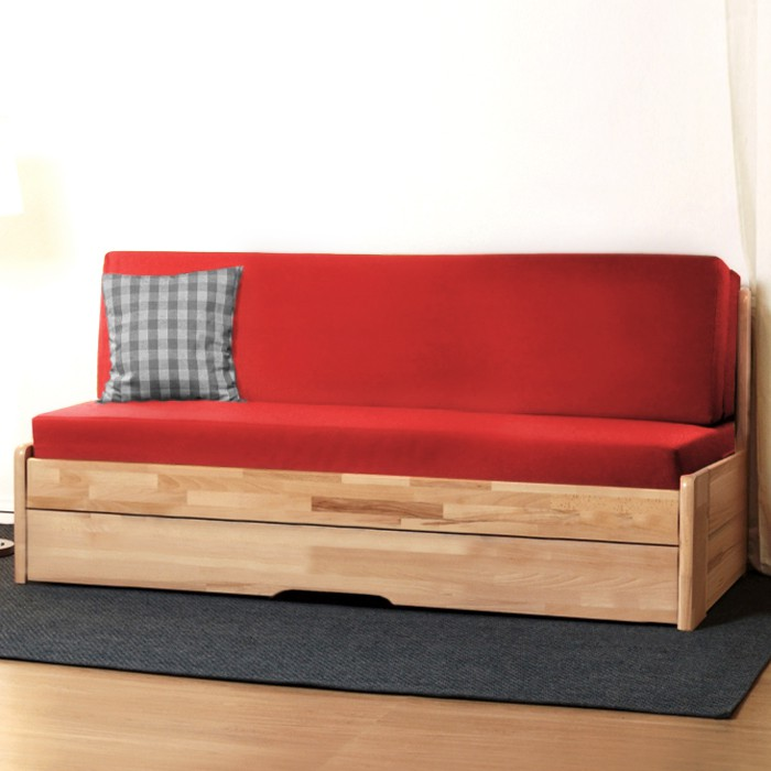 Rozkládací postel CORA TANDEM ORTHO masiv buk cink jádrový, odstín natur přírodní lak, BMB