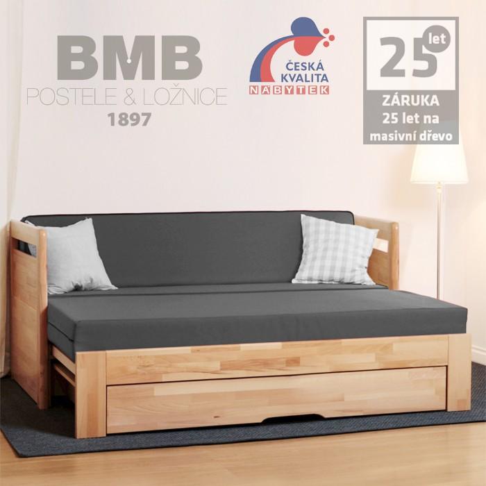 Rozkládací postel TARJA TANDEM ORTHO masiv, BMB
