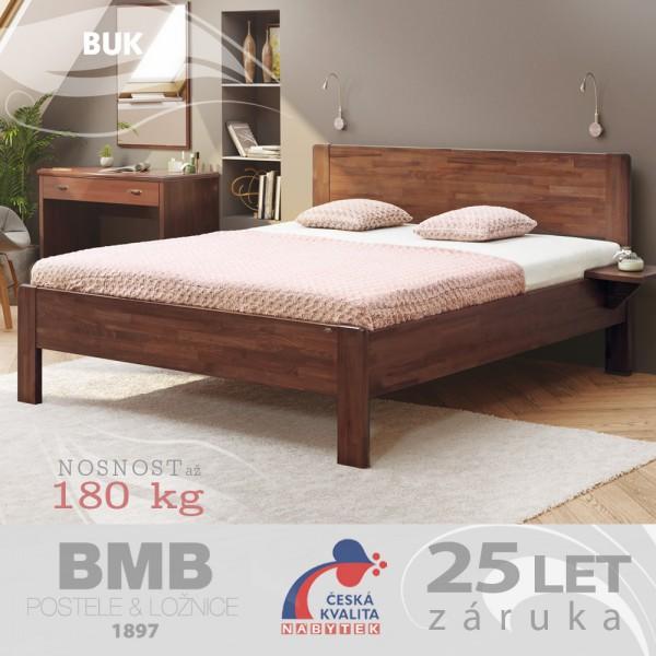 Zvýšená postel SOFI XL masiv buk, BMB