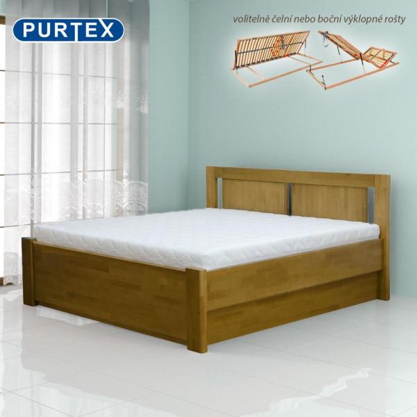 Zvýšená postel VICTORIA výklop masiv, Purtex