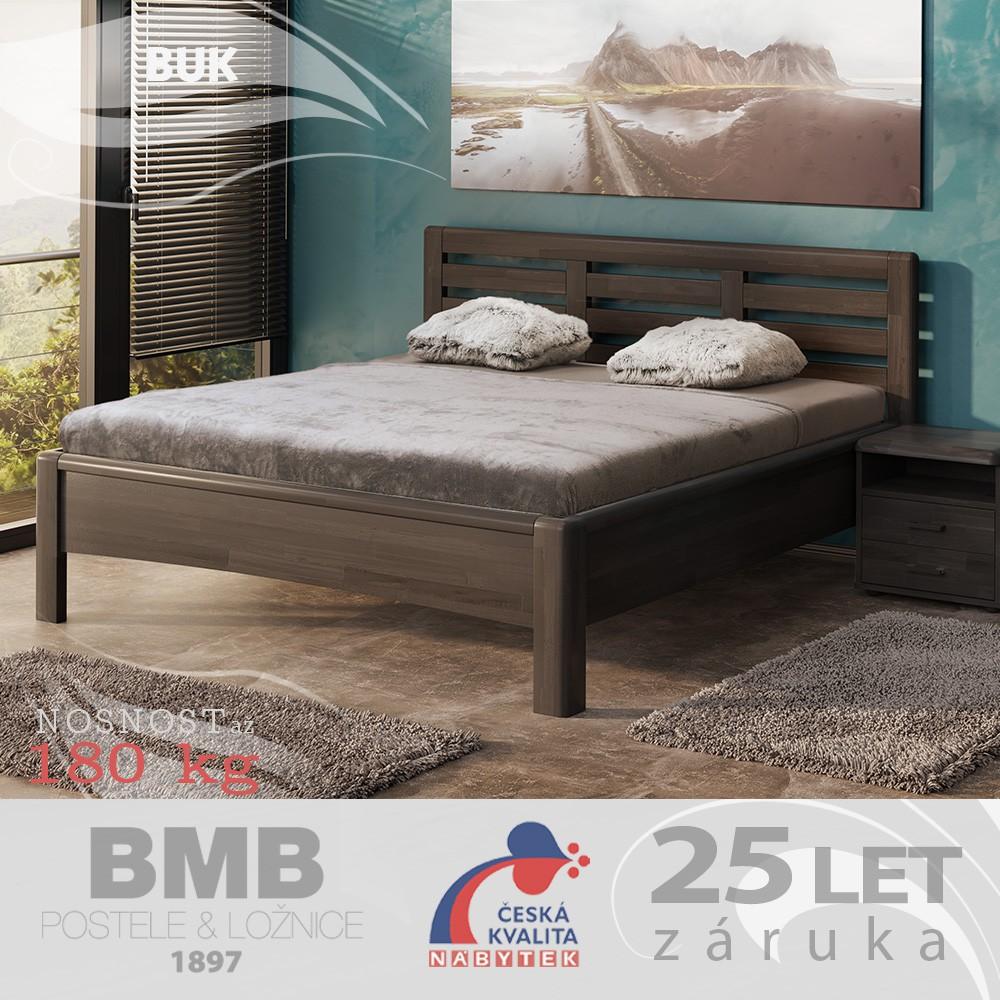 Zvýšená postel VIOLA masiv buk, BMB
