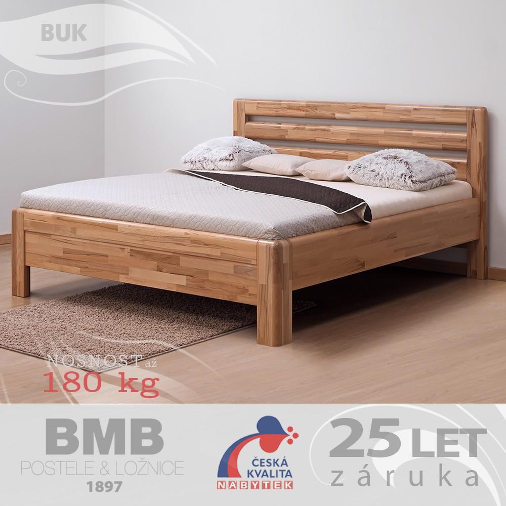 Zvýšená postel ADRIANA LUX masiv buk, BMB