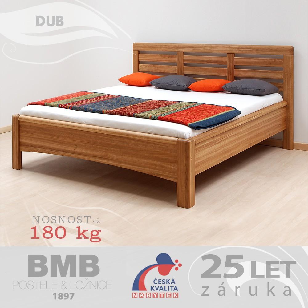 Zvýšená postel VIOLA masiv dub, BMB