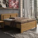 Zvýšená postel VICTORIA masiv DUB, Purtex