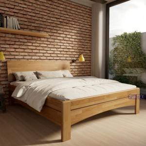 Zvýšená postel AVA plné čelo masiv, Purtex