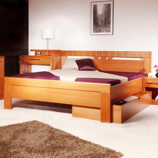Arleta 1 - zvýšená masivní buková postel