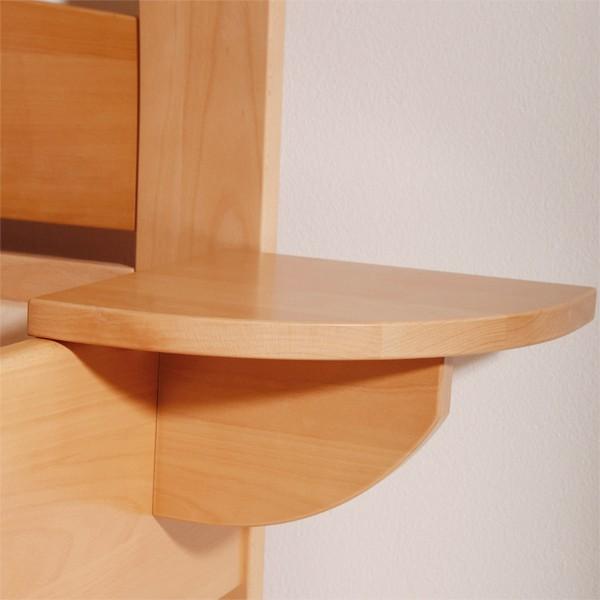 Noční stolek závěsný, masiv buk lak odstín č.10 přírodní