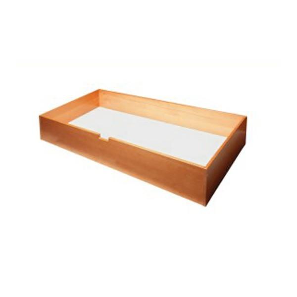 Zásuvka pod postel UNI boční, masiv buk LAK č.20 třešeň
