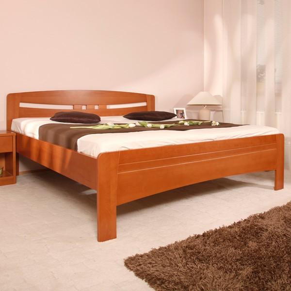 EVITA 6 ekonomická verze - zvýšená masivní buková postel