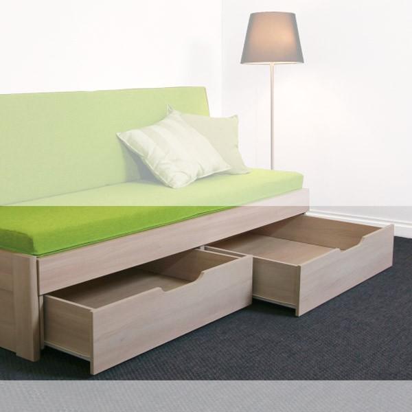 Půlené zásuvky 2 ks (již jsou součástí postele)