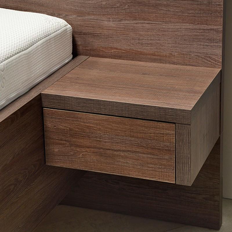 Noční stolek se zásuvkou (2 ks)